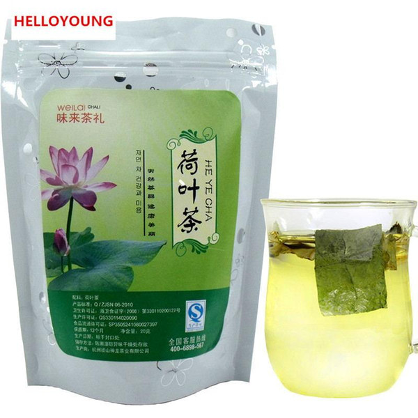 Preference 20g Natural Dried Lotus Leaf Chinese Specialty Herbal Tea New Scented Tea Health Care Flowers Tea Top-Grade Healthy Green Food