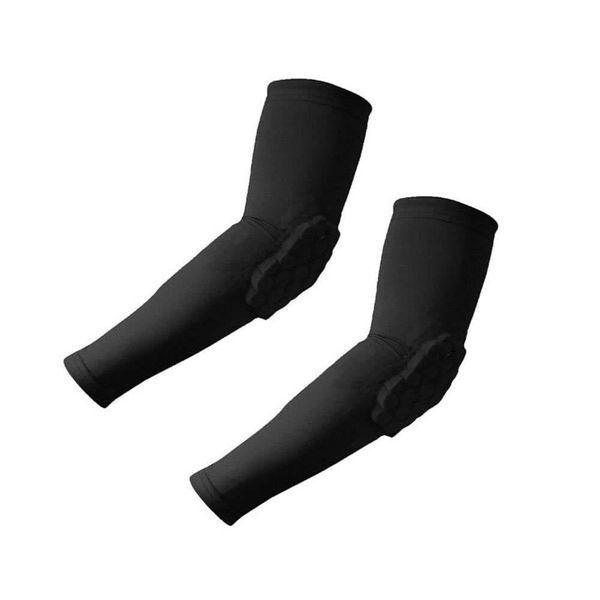 Manicotto del gomito della guardia del braccio di pallacanestro di Crashproof di protezione del favo del 1 pc