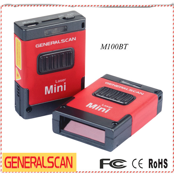 Wholesale- Generalscan GS M100BT(G03) Mini 1D USB Bluetooth Barcode Scanner for Android&iOS Phones/Tablet , Small Finger Codes Reader