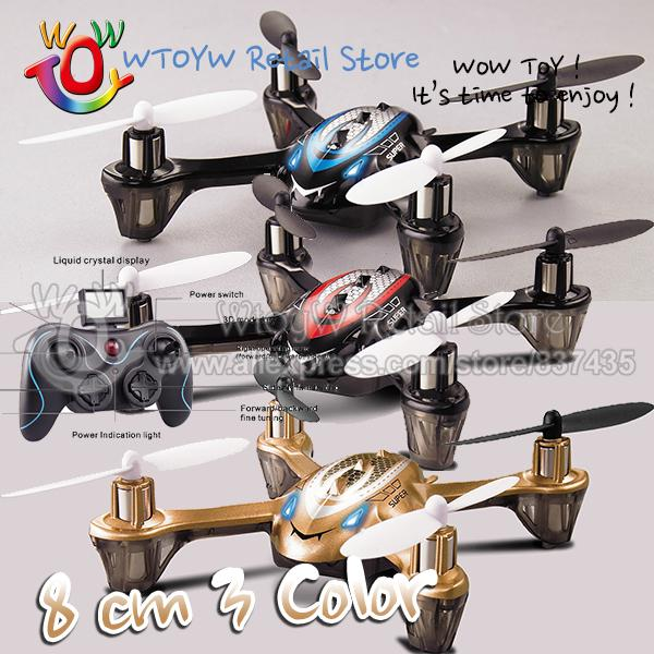 Wholesale-1 piece free shipping 3 color 8cm rc remote control flash quadcopter/quadrocopter/quadricopter/rc helicopter 6ch/plane/aircraft