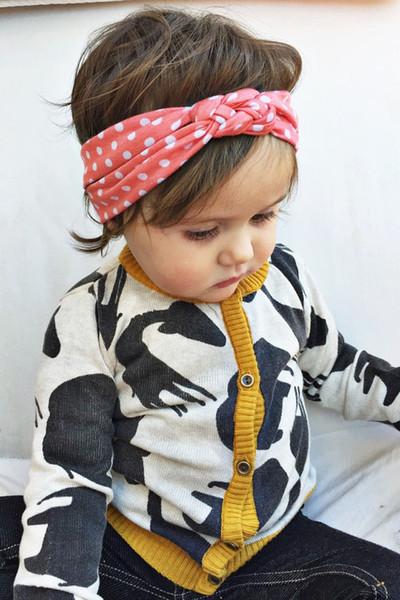 2015 neonate capelli intrecciati con i bambini in modo sicuro croce nodo dot accessori per capelli fascia elastica fascia bambini Boutique capelli acce