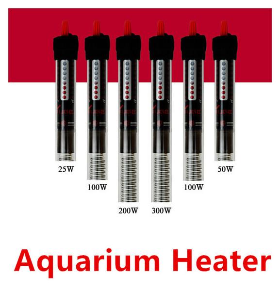 best selling 25w 50w 100w 200w 300w Aquarium Heater Durable Submersible heater Heating Rod for Aquarium Glass Fish Tank Temp Free Shipping
