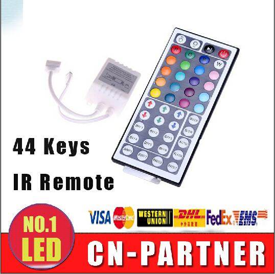x50pcs DHL nave DC 12 V 44 Tasti IR Remote RGB Mini Controller Dimmer per smd 5050 3528 led Strips Lights 7 modulo di colore