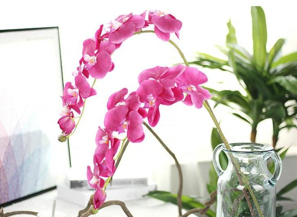 Hot sale upscale phalaenopsis artificial flowers diy artificial hot sale upscale phalaenopsis artificial flowers diy artificial butterfly orchid silk flower bouquet wedding home decoration mightylinksfo Image collections