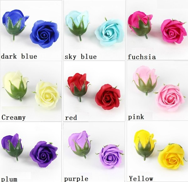 "50pcs 2"" Multicolor Artificial Flower Rose Soap For Wedding Party Birthday Souvenirs Gifts Favor Home Decorate"