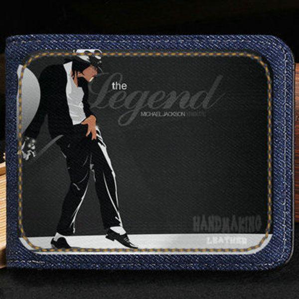 Michael Jackson Wallet Cool Super Singer Purse Music Star Fans Short Cash Note Case Money Notecase Leather Burse Bag Card Holders Ladies Leather
