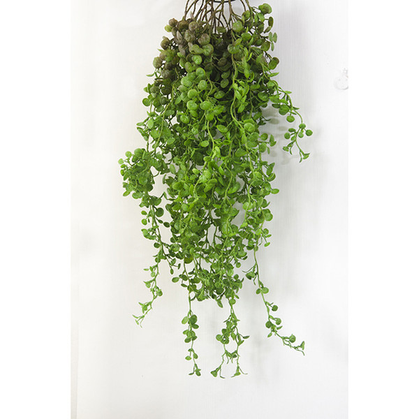 75cm Artificial Vine Hanging Wall Plants Fake Grass Leaves Garland Decoration For Home Garden Green Plastic Ivy Rattan Wedding