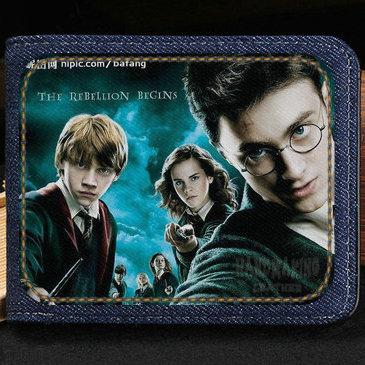 Harry Potter wallet Hot cartoon purse Order of the Phoenix short cash note case Money notecase Leather burse bag Card holders