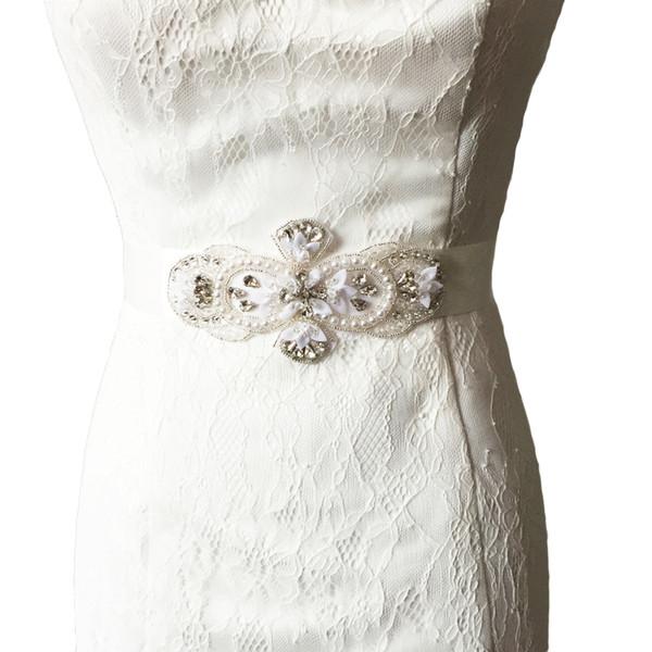 57d8270d8c 2018 S212 Crystal And Rhinestone Beaded Applique Bridal Belt Wedding Sash  Applique Ribbon Designer Belts From Retro, $15.08   Dhgate.Com
