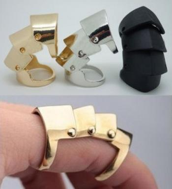 European And American Popular Retro Punk Metal Armor Joint Rings For Women