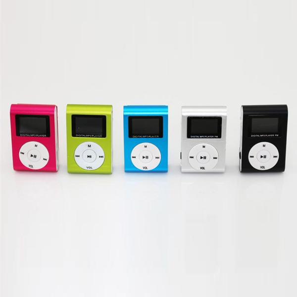 top popular MP3 Player Clip with OLED Screen Metal Body Support Max 8GB TF Card Colorful 50pcs lot 2019