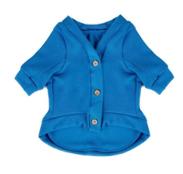 Al por mayor-Pet Dog Clothes Sweater Cat Puppy Shirt Moda Diseño Ropa Azul Sólido Verde Ropa 5 Tamaños Envío Gratis