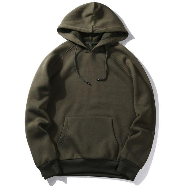 Wholesale- USA SIZE Fashion Color Hooides Men's Thick Clothes Winter Sweatshirts Men Hip Hop Streetwear Solid Fleece Hoody Man Clothing