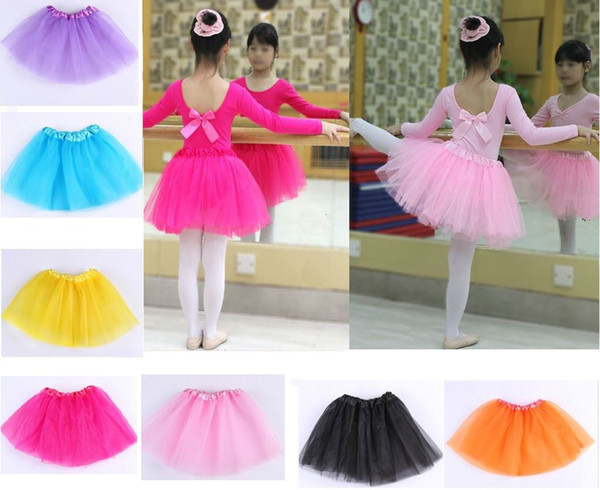 best selling baby Tutu Skirt Princess Dance Party Tulle Skirt fluffy chiffon skirt girls Ballet dance wear Party costume Baby girl clothes Free shipping