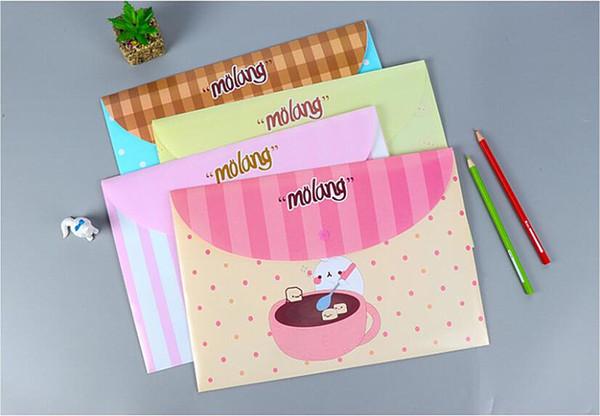 cute Cartoon file folder bag School Supplies File Folder File bag A4 paper document kawaii Office Portfolio dosya material escolar