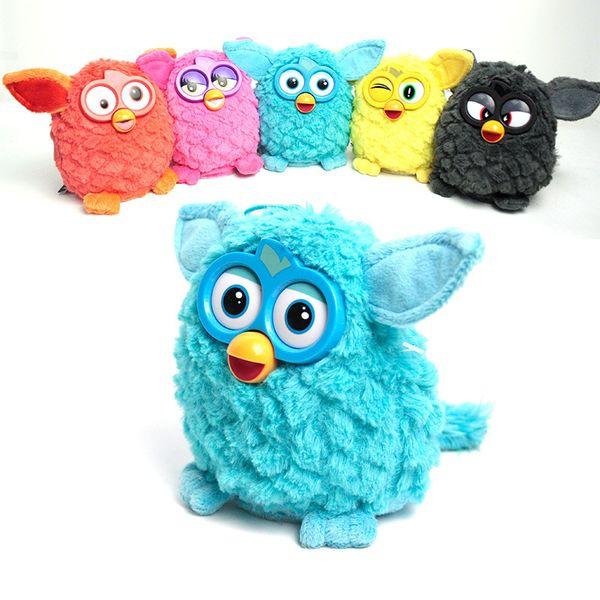 Lindo Interactive Owl Electronic Toys Phoebe Furby Electric Pets Owl Elfos Peluches Grabación Talking Toys Party Gift 6 Color
