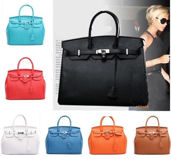 2015 Hot Celebrity Tote Shoulder Bags Mujer HandBag bolso de hombro del diseñador de moda Girl Faux Leather Handbag Envío gratis