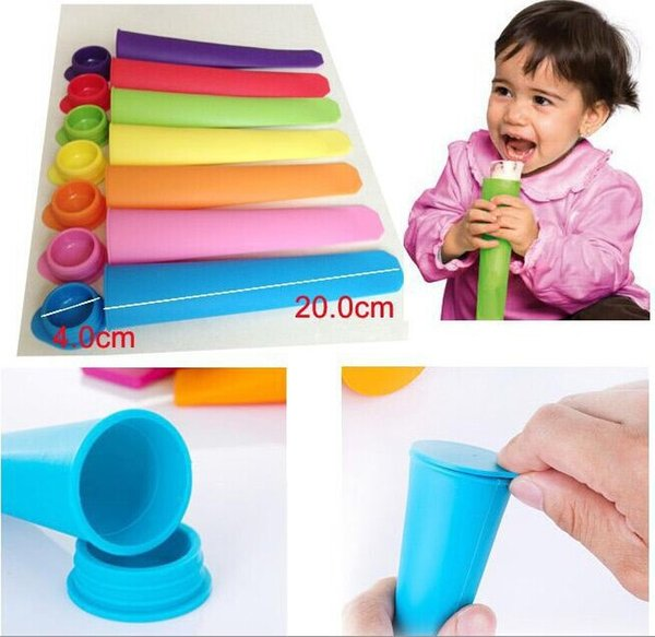 Silicone Ice Pop Mold Popsicles Mould with Lid Ice Cream Makers Push Up Ice Cream Jelly Lolly Pop For Popsicle 100pcs/lot 1203#03