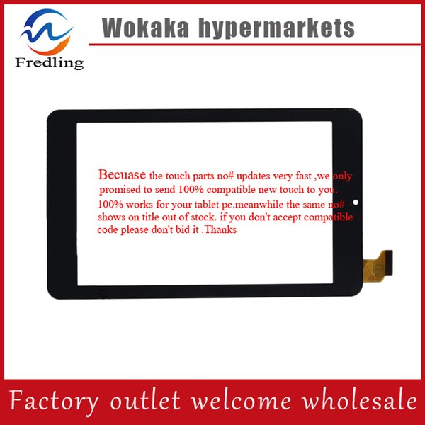 "Wholesale- New For 7"" Tablet irbis tz03 tz 03 tz04 tz 04 HSCTP-802-7-V1 HSCTP-802-7-V0 touch Screen Panel Glass Digitizer Replacement"