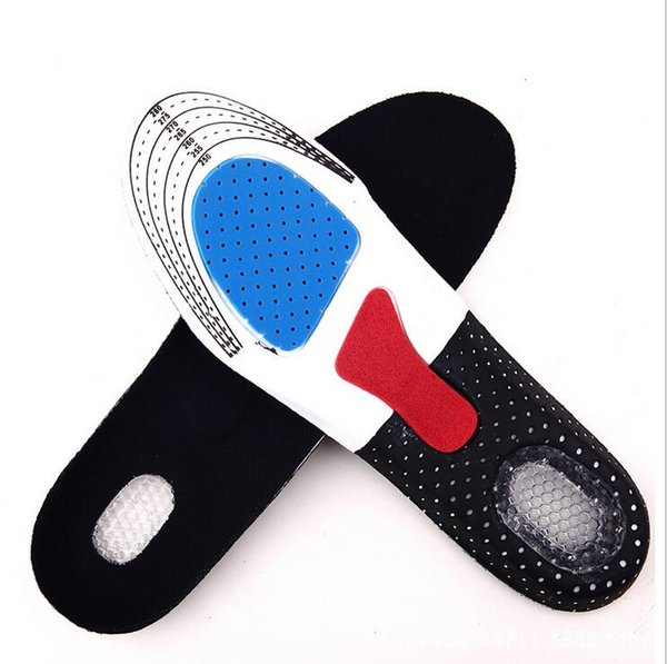 2018 Free Size Unisex Arch Support Shoe Pad Sport Running Gel Insoles Insert Cushion for Men Women 2pcs=1pair