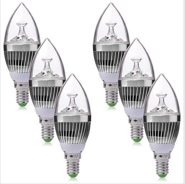 candle light chandeliers bulb lamp 220v E14 E27 9w 12w 15w dimmable led bulb warm white and pure white led downlight