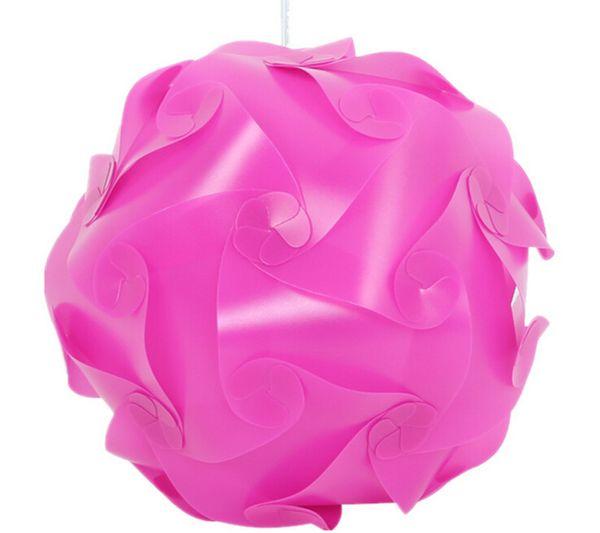 3000pcs=100set DIY Modern Pendant Ball Novel IQ Lamp Jigsaw Puzzle Pendants Colorful Pendant Lights 25CM/30CM/40CM 3 sizes 9clolors
