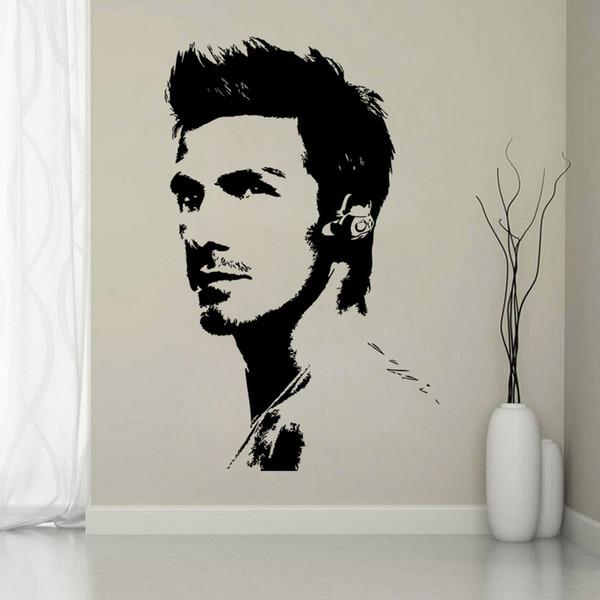 Sport Super Star Wandaufkleber Beckham Fußball Beliebte Player Wohnzimmer Porträts Kunst Wallpaper Kostenloser versand