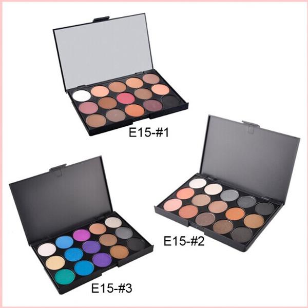 top popular 15 Color Nake Shimmer Eyeshadow Makeup Palette Set Professional Eye Shadow Foundation Nude Makeup Smoky Pearl Eyeshadow 0605101 2019
