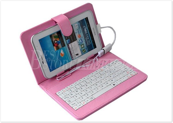 Schlussverkauf !! Ledertasche mit Micro-USB-Schnittstelle Tastatur für Universial 7