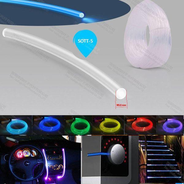 top popular super bright 5mm solid core plastic fibre optic cord fiber optic side glow cable for lighting decoration 2021