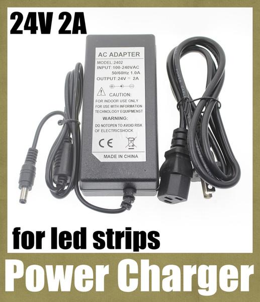 adaptador de energia carregador de fonte de alimentação ac adaptador dc plugue fêmea adaptador de plugue elétrico DC 24V 2A para AC 100V-240V ajuste levou luz de tira DY010