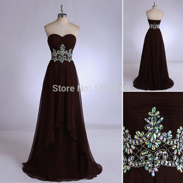 Elegance Black Strapless 2015 Evening Dresses A line Floor Length Chiffon With Pattern Embroidery And Pleats Long Evening Gowns
