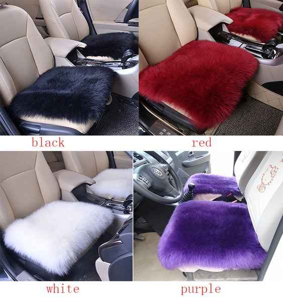 Astounding Wool Car Interior Seat Cover Fluffy Faux Sheepskin Seat Cushion Pad Winter Mat Universal Fit For Comfort In Auto Plane Office Or Home Car Seat Pabps2019 Chair Design Images Pabps2019Com