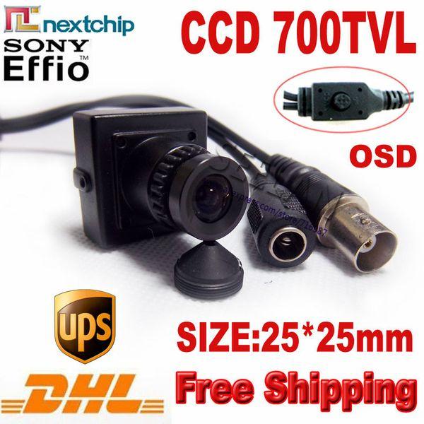 Venta al por mayor mini cámara 700TVL Hi-res Mini menú cuadrado OSD mini cámara CCTV Cámara ATM con Nextchip 2090 + 672 \ 673 DSP cámara CCTV DHL Shi