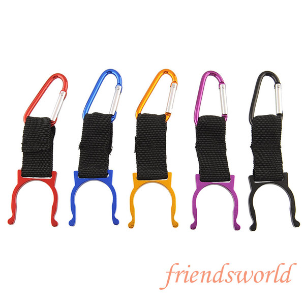 New Carabiner Belt Clip Key Chain Water Bottle Hook Clamp Holder Outdoor Aluminum Buckle 2000pcs Free Shipping