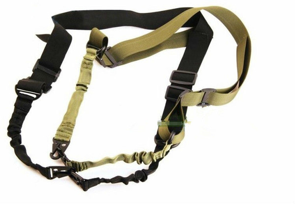 Tactical 2 Two Point Rifle Sling Regolabile Bungee Tactical Airsoft Gun Strap System Paintball Gun Sling per Airsoft Caccia