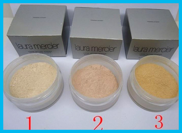 top popular 3 clolors loose powder Famous laura mercier loose setting powde fix powder makeup powder Min pore Brighten Concealer free DHL 2021