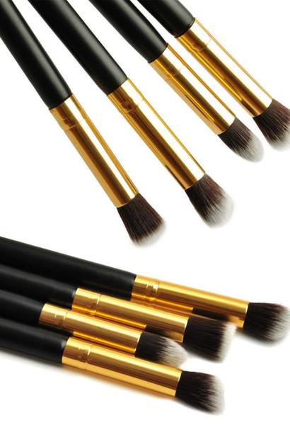 1Set/4pcs Professional Eye brushes set eyeshadow Foundation Mascara Blending Pencil brush Makeup tool Cosmetic Black YzxIK