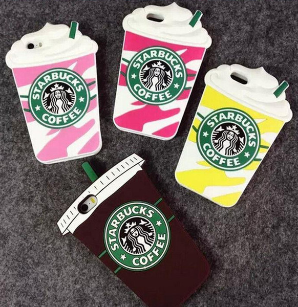 3D Cartoon Starbuck Coffee Cup For IPhone 4s 5s 6 Plus Cell Phone Cases Silicon Starbuck Coffee Cup Durable Mobile Phones Case