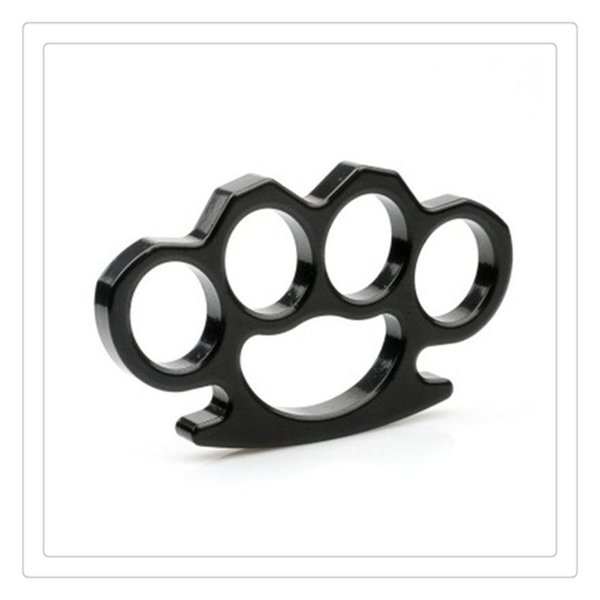 Outdoor Thin Steel Brass Knuckles Equipment Brass Knuckle Dusters Self Defense Personal Security Hand Buckle Exercise Self-defense Pendant