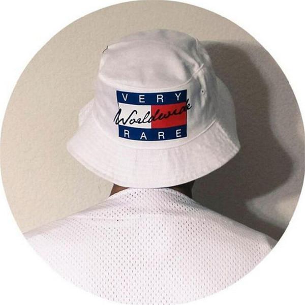 Al por mayor-Verano Protección Solar Pesca Marca Bob Boonie Cubo Sombreros Cap Hip Hop Para Hombres Mujeres Letras MUY RARO Pescador Sombrero
