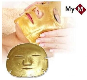 best selling Gold Bio-Collagen Facial Mask Face Mask Crystal Gold Powder Collagen Facial Mask Moisturizing Anti-aging DHL free shipping
