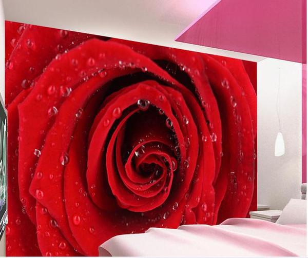 Compre Direto Da Fábrica Alta Rapidamente Hd Mural 3d Papel De Parede Rosas Vermelhas Papel De Parede Papel De Parede Preço De Atacado Frete Grátis