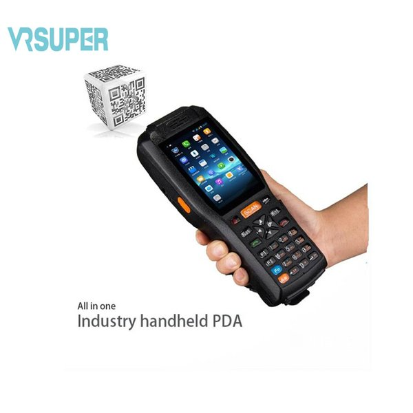 top popular Wholesale- PDA3506 Android 6.0 OS Rugged PDA WiFi 3G RFID 1d laser barcode scanner handheld 2019