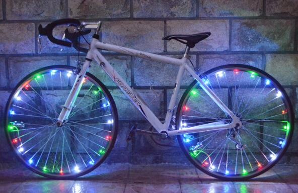new arrival Mountain Bike Lights Cycling Spoke Wheel 20 LED Bright Lamp,bike led light high quality free shipping