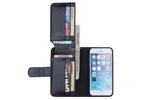 Kartenhalter Flip Wallet Ledertasche Für Apple iPhone 4 4 ​​s 5 5 s Für iphone 6 4,7 ipone 6 Plus 5,5