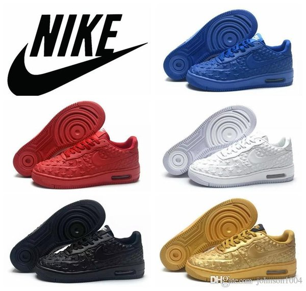 Cheap Wholesale Nike AF1 Mens Nike Air Force One Blue Red