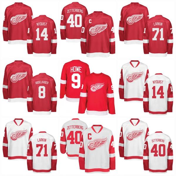 Youth Detroit Red Wings Jerseys 8 Justin Abdelkader 40 Henrik Zetterberg 9 Gordie Howe 71 Dylan Larkin 25 Mike Green Hockey Jerseys