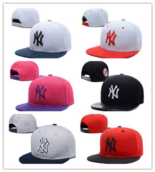 De Buena Calidad Gorra de béisbol de borde plano de algodón de alto grado Snapbacks bordado de tiburón Hiphop Moda Hiphop Sombrero Hombre Hombre Señora Visor Sun Hats