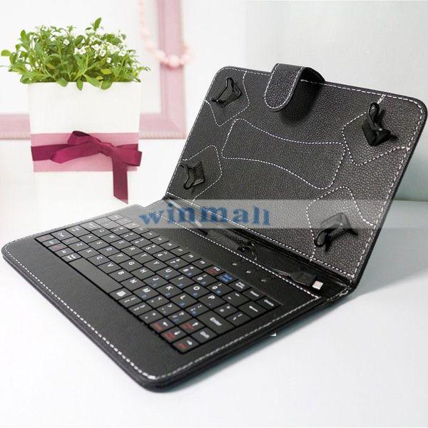 Micro-USB-Tastatur-Kasten PU-lederner Tablette-Standplatz-Abdeckungs-Fall-faltbarer Fall für 7 Zoll Android-Tablette PC Q88 Q8 A33